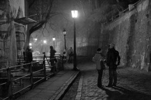 fotografie nočního Těšína